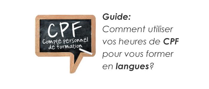 Utiliser Vos Heures Compte Personnel De Formation Pour Formation Langue